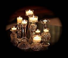Christmas Wine Glass Tea Light Holders Thrift Store Candle Holders And Wine Glasses Topped W Tea