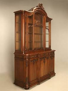 antique walnut china cabinet from ch jeanselme and