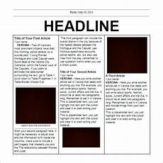 Newspaper Outline For Word School Newspaper Templates 11 Free Eps Documents