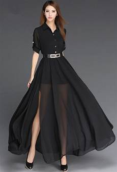 new 2016 black and white dress european style side