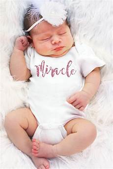 Miracle Baby Designs Miracle Baby Girl Onesie Faith Baby Faithbaby