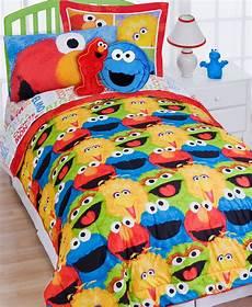 sesame comforter pillow sham set elmo chalk bedding