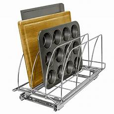 lynk roll out cutting board bakeware and tray organizer