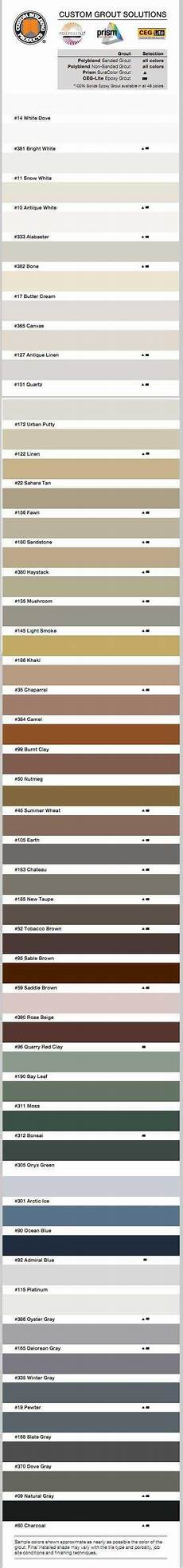 C Cure Grout Color Chart What Color Grout Should I Choose For My Tile The Home