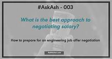 Negotiating An Offer Askash 003 How To Confidently Enter A Job Offer