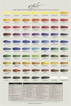 Sennelier Watercolor Chart M Graham Watercolors Chart Sennelier Watercolor