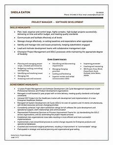 It Management Resume Software Project Manager Resume