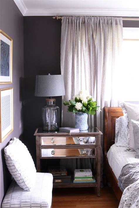 black frosted plum wall color and cozy bedroom from the inspired room decorating