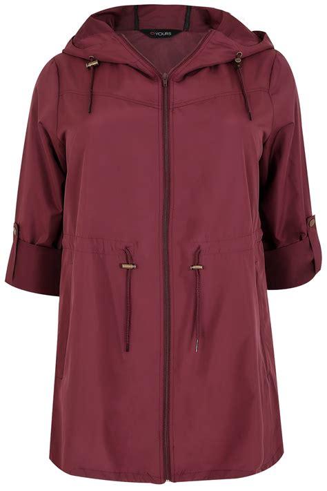 Grosir Jaket Jaket Parka Pocket Navy Line Burgundy Pocket Parka Jacket With Plus Size 16 To 36
