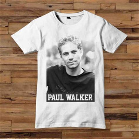 T Shirt Paul Walker paul walker t shirt t shirt white black from oblongoblong on etsy