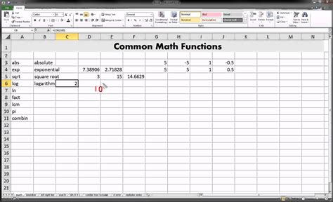 Mat Excel by Excel Math Functions