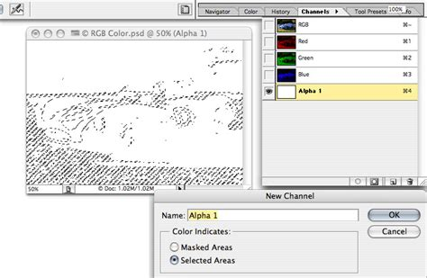 adobe photoshop alpha channel tutorial using the photoshop color channels palette