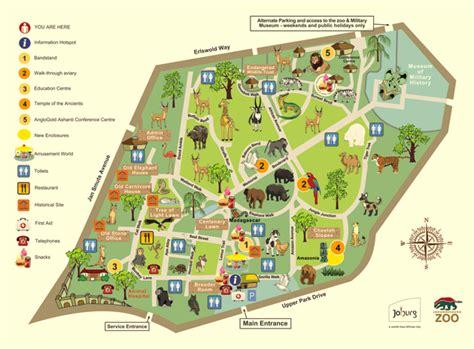 africa zoo map zoos johannesburg