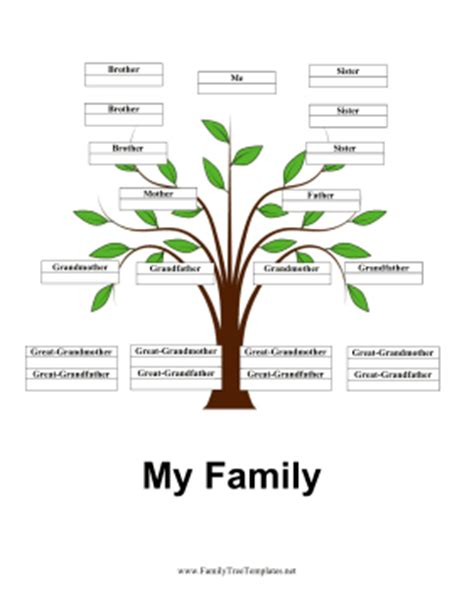 4 generation family tree template free 4 generation family tree with siblings template
