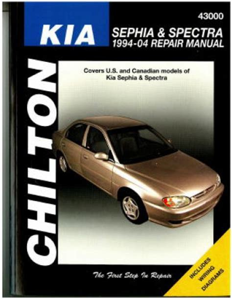 2004 Kia Repair Manual Chilton 1994 2004 Kia Sephia Spectra Repair Manual