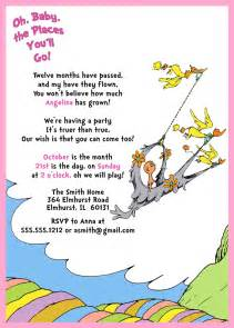 oh baby the places you ll go dr seuss 1st birthday invitation oh baby the places you ll go pink