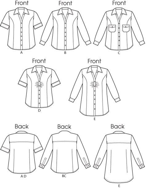 pattern shirt image butterick 5721 women s shirt