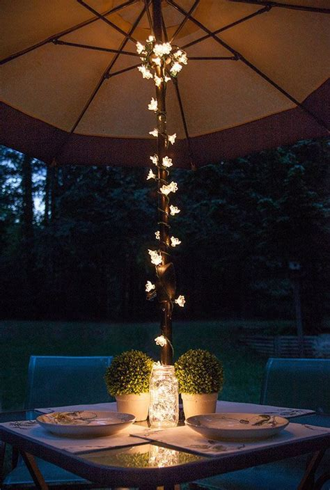 outdoor patio table lights best 20 table umbrella ideas on patio table