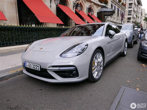 porsche chalk crayon colored 2017 porsche panamera turbo spotted on