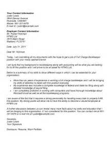 Full Charge Bookkeeper Cover Letter   http://www