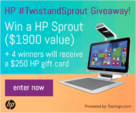 Hp Gift Card Promotion - enter to win a hp sprout or 250 hp gift card twistandsprout