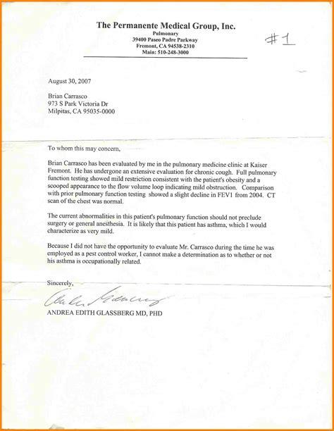 Kaiser Appeal Letter 10 Kaiser Permanente Doctors Note For Work Farmer Resume