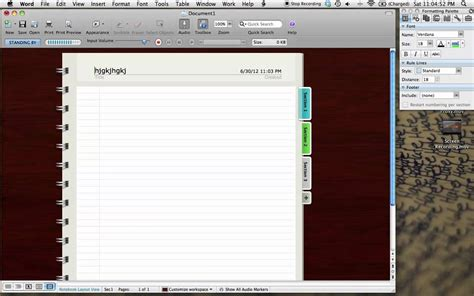 notebook layout view word windows how to mac word notebook layout youtube