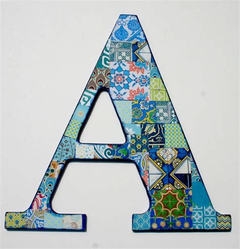 decoupage wooden letters wooden letters for nusery nursery letter a decoupage