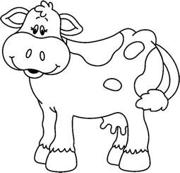 Cow Drawing Outline by Outline Of A Cow Cliparts Co