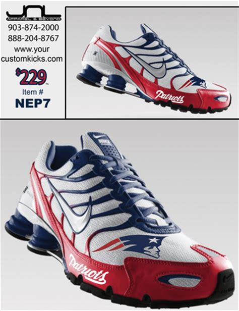 patriots shoes custom new patriots nike turbo shox jnl apparel