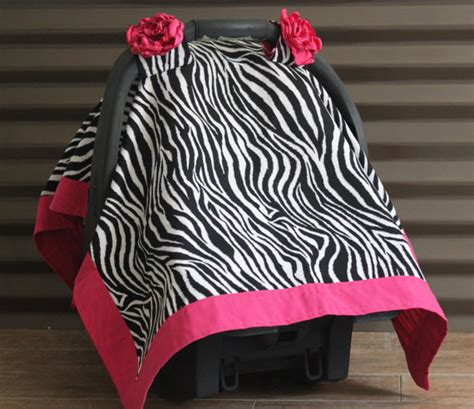zebra print baby car seat covers infant car seat canopy carseat cover zebra and pink