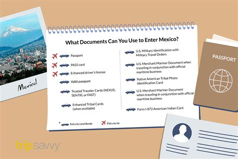 Documents Needed To Travel To Mexico