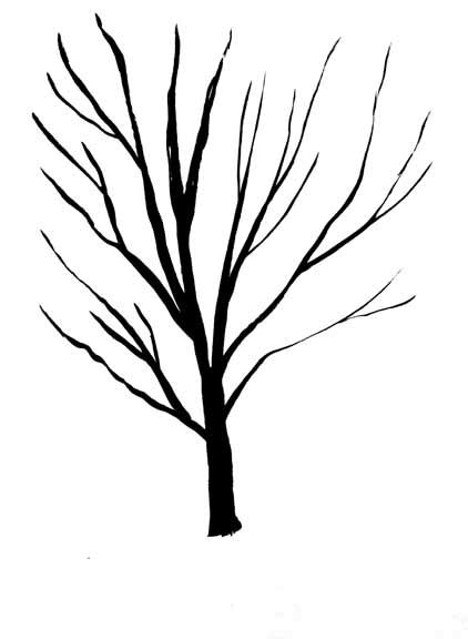simple drawing tree black and white tree drawing cliparts co