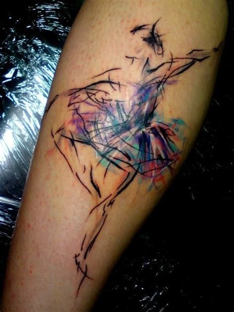 ballerina tattoo watercolor ballerina artsy fartsy ink