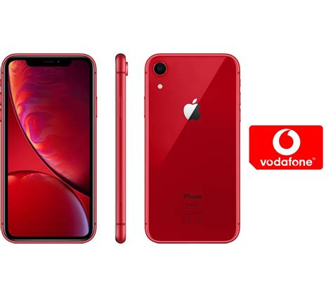 buy apple iphone xr pay    micro sim card bundle  gb red  delivery currys