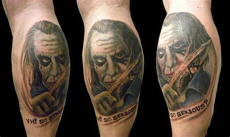 joker tattoo on calf calf quotes quotesgram