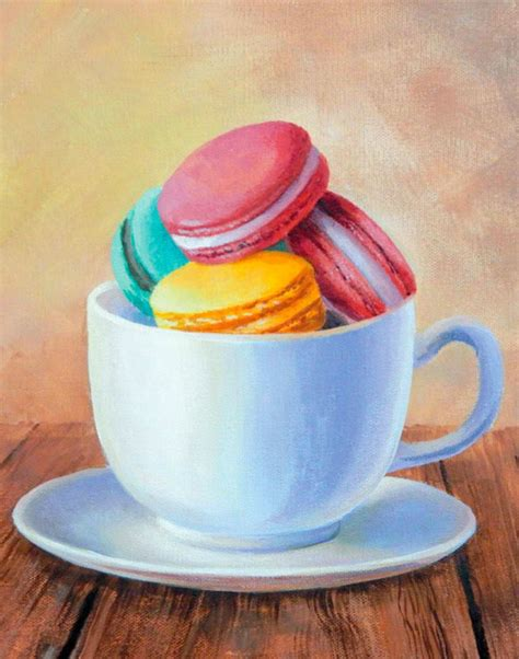 painting still macarons quarto creates