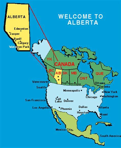 A Map Of Alberta Canada