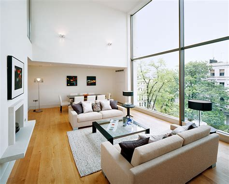 build a living room living room of new build house residential architectural
