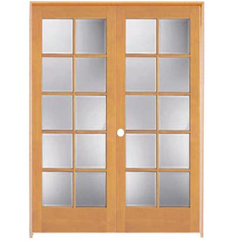 Shop Reliabilt 10 Lite French Solid Core No Skin Pine 48 Interior Door