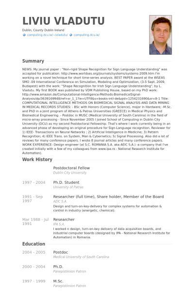 Postdoctoral Resume Sle by Resume Biotech Phd
