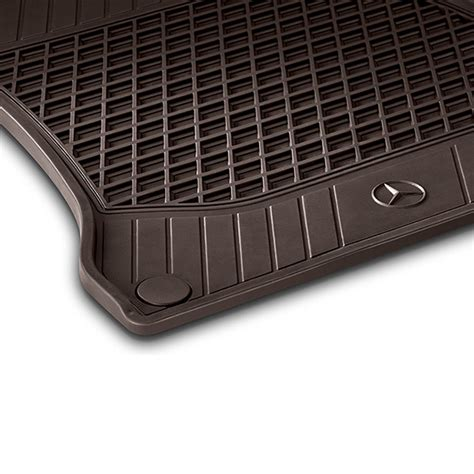 Mercedes Mats by Rubber Floor Mats 2 Espresso Brown S Class W222 Genuine Mercedes