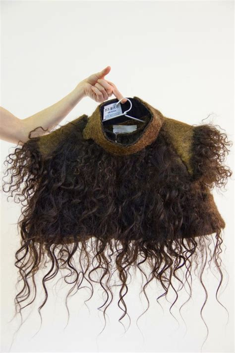 design clothes get them made eindhoven graduate designs clothes made out of human hair