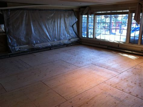 plywood subfloor concrete floor installing engineered