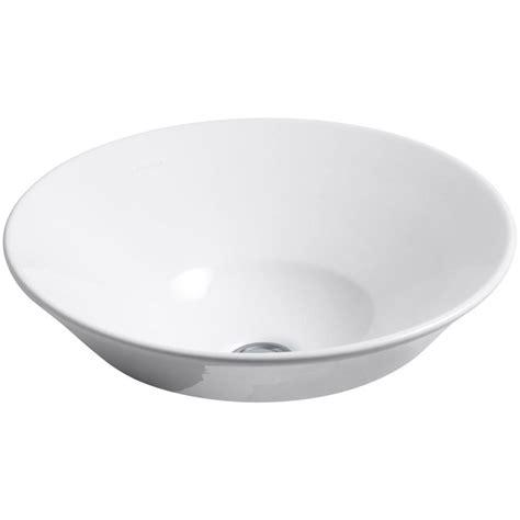kohler vessel sinks kohler conical bell vitreous china vessel sink in white k