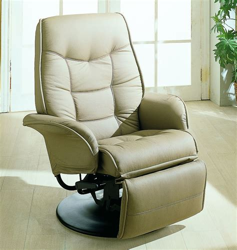 euro style recliner euro style swivel chair with recline in beige stargate