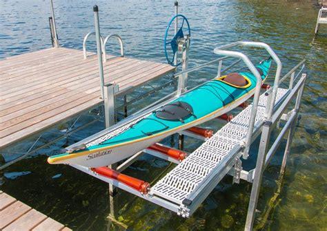 boat dock height adjustable kayak launch lift for docks