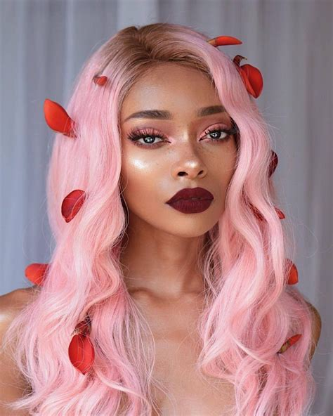 does black hair or blonde hide wrincles ružičasta limunada nevjerovatna boja kose friz