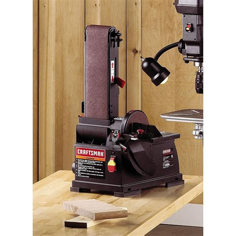 craftsman bench sander craftsman disc sander bench top belt wood sanding tool