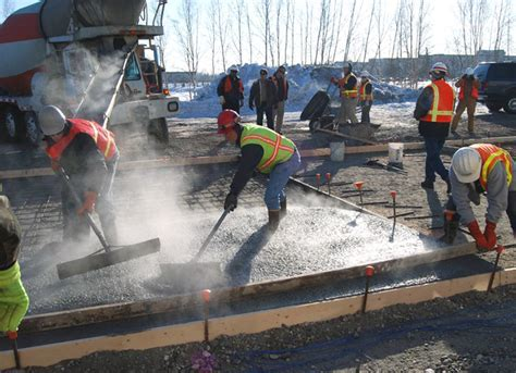 Pouring Placing and Finishing Concrete in Cold Weather